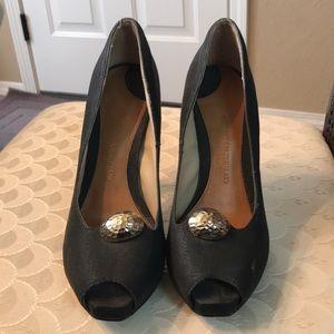 Christian Siriano black heels